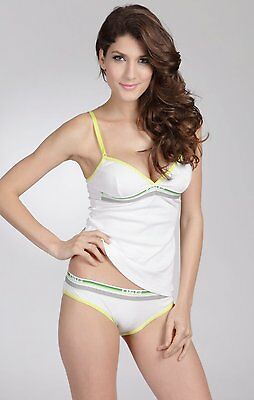 Dolce & Gabbana Neon Lights V-Neck Cotton Camisole white only size 8/10/12/14