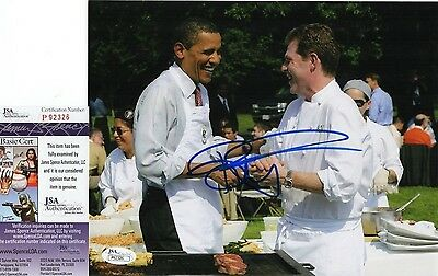 Bobby Flay In-Person Signed 8x10 Photo w/ JSA COA #P92326 Iron Chef Barack Obama