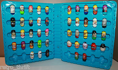 Mighty Beanz Lot of 45 with Carrying Case