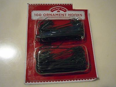 "New 100PK 3"" Large Christmas Ornament Hooks Tree Wedding Garden Hangers Green"