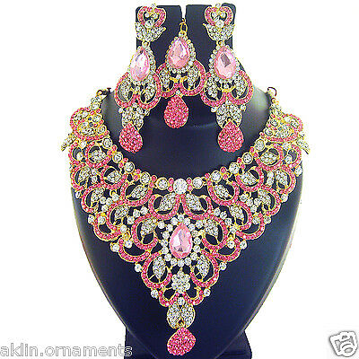 Indian Jewelry Ethnic Necklace Bollywood Gold Traditional Bridal New Fashion Set