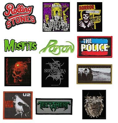 # MISFITS poison THE POLICE U2 testament - OFFICIAL SEW ON PATCH logo patches