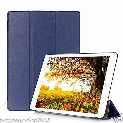 "Leather Ultra Thin Sleep Wake PU Smart Cover Stand Case For iPad Pro 12.9"" 9.7"""