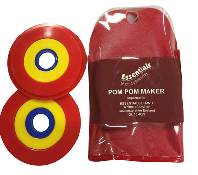 Whitecroft Essentials Pom Pom Maker Set - 3 Sizes-in-one - Crafts Sewing Bobbles