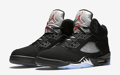 pretty nice cd630 7d840 AIR JORDAN 5 RETRO OG BG 845036-003 Black Fire Red Metallic Silver Junior  Size