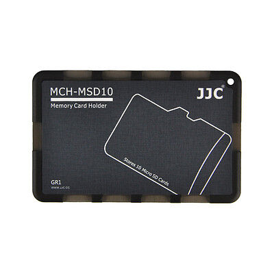 JJC MCH-MSD10GR Black Pocket Memory Card Holder fits 10 Micro SD cards US Seller