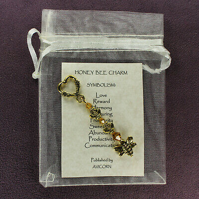 HONEY BEE TOTEM CHARM Amulet Talisman Animal Magick Love Symbol Sign Lucky Swarm