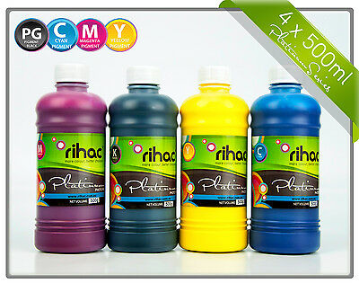 Rihac Pigment Ink for Canon Maxify Printers PGI-1600 & PGI-2600 Cartridges 500ml