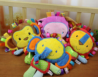 Kids Development Educational Toys Baby Animal Gift Doll Infant Rattle Plush Soft