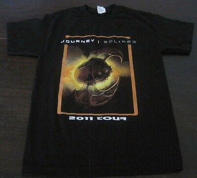 JOURNEY 2011 tour t-shirt small Foreigner Night Ranger Arnel Pineda guitar + CD