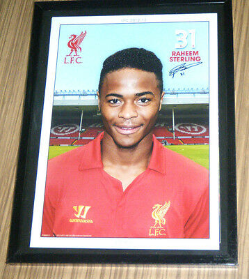 Liverpool Football Club LFC Soccer Souvenir Photograph - Raheem Sterling