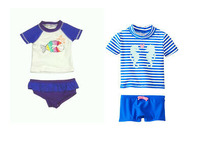 Carter's Oshkosh Baby Girl 2PC Rash Guard UPF +50 Protection Swimsuit 6M Set NWT
