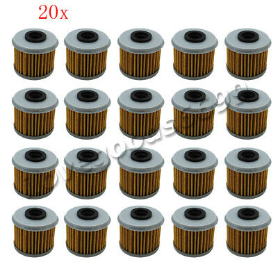 20x Oil Filter For HONDA CRF150R CRF150F CRF250R CRF250X CRF450X CRF450R TRX450R