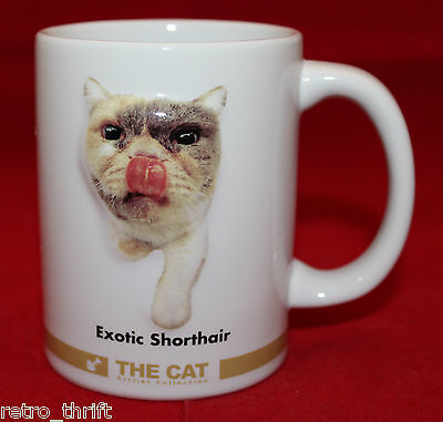 The Cat The Artlist Collection Exotic Shorthair 3D White Mug Cup 11 The Original