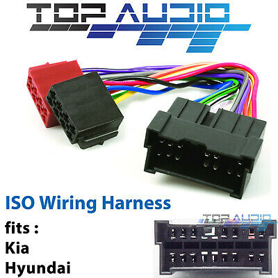 fit Hyundai Tucson ISO wiring harness adaptor cable connector lead loom plug