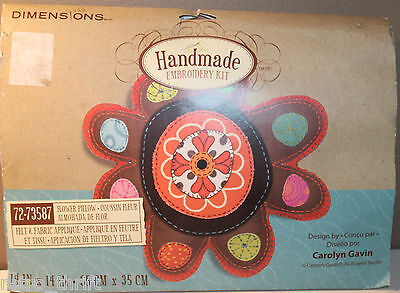 Dimensions 72-73587 Flower Pillow Handmade Embroidery Kit