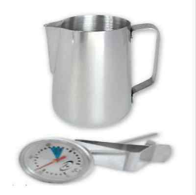 Stainless Steel Coffee Milk Frothing Thermometer & 600ml Jug Trenton