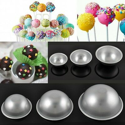 Hot Trendy Aluminum Ball Sphere Bath Bomb Mould Pastry Cake Baking Mold 3 Size