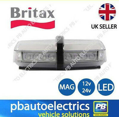 Britax Amber Micro LED lightbar clear lens magnetic fixing 12v/24v – A100.00.LDV