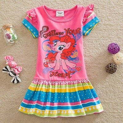 My Little Pony Girls Short Sleeved Printed Dress, Cotton, Sizes 2 - 7