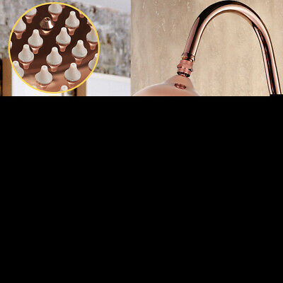 "8"" Inch Retro Antique Red Copper Round Bathroom Bath Rainfall Shower Head New"