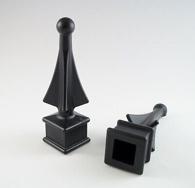 """Linic 10 4"""" x 3"""" Black Plastic Fence Post Top Cap Finial Rot Proof UK Mde GT0054"""