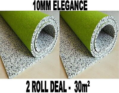 30m2 2 Roll Deal Luxury - 10mm Elegance PU Foam Underlay CHEAP!