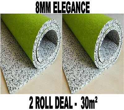 30m2 2 Roll Deal Luxury - 8mm Elegance PU Foam Underlay CHEAP!