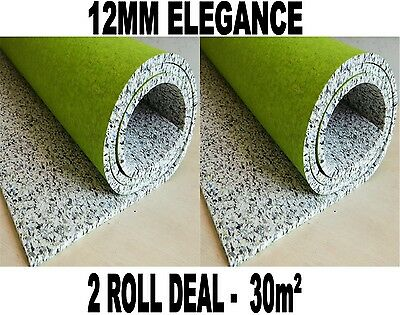 30m2 2 Roll Deal Super Luxury - 12mm Elegance PU Foam Underlay CHEAP!