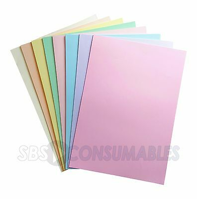 A4 80gsm Lasercol Premium Pastel Coloured Paper - 100 Sheets - Assorted Colours