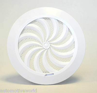 "Circle Air Vent Grille 100mm 4"" with Shutter Round Ducting Ventilation Cover T95"