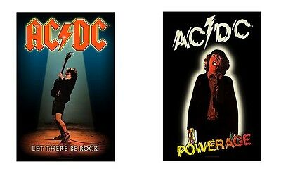 Ac/dc Acdc - Let There Be Rock / Powerage Logo - Official Textile Poster Flag