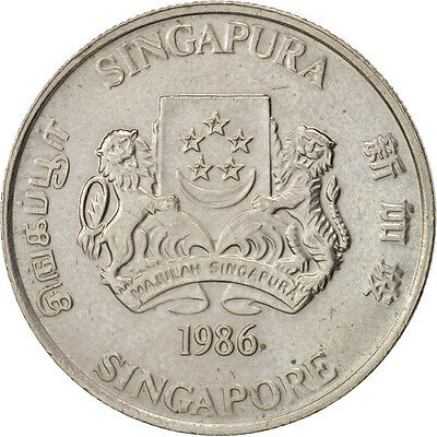 [#96725] Singapore, 20 Cents, 1986, British Royal Mint, Copper-nickel, KM:52