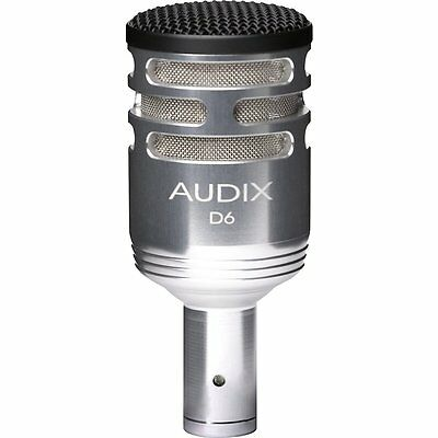 Audix D6 Silver Sub Impulse Kick Microphone Brushed Aluminum Special Edition
