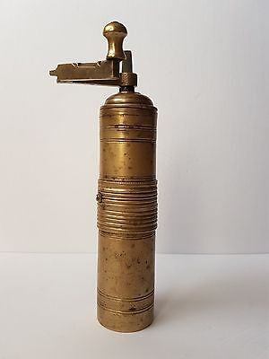 Antique Ottoman Empire Engraved Brass Coffee/Pepper Grinder/Mill Tugra Stamped