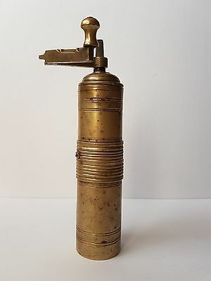 Antique Ottoman Empire Engraved Brass Coffee/Pepper Grinder/Mill Tugra Stamped • CAD $87.67