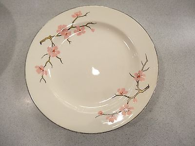 Vintage Knowles Peach Blossom Set of 4 BREAD BUTTER PLATES Pink Flower