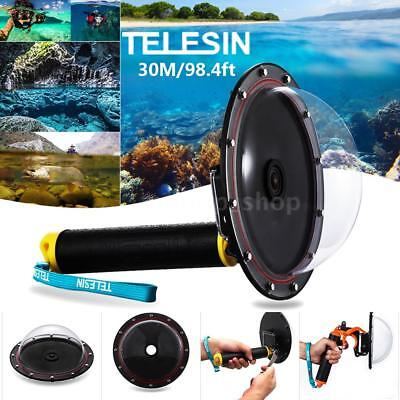 TELESIN Dome Port Underwater Diving Camera Cover for Gopro Hero 4/3+/3 Cam R1U6