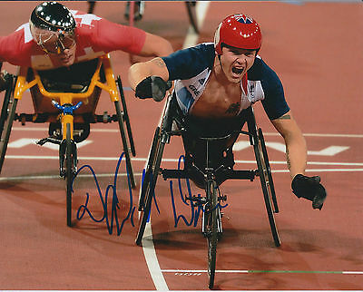 David WEIR Autograph Signed Photo AFTAL COA Paralympic Wheelchair Athlete