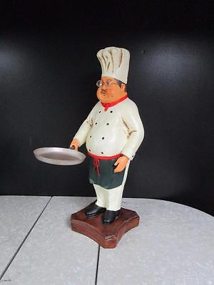 """30"""" Large Fat Chef Statue W/Glasses For Home Decor Or Restaurant Display"""