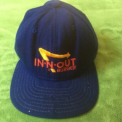 In-N-Out Burger Hat Cap Blue SnapBack New Era Made In The USA
