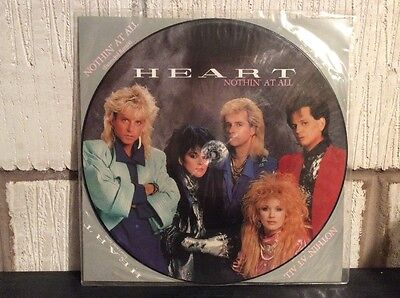 "Heart Special Edition Picture Disc Nothin' At All 12CLP507 12"" Single EX"