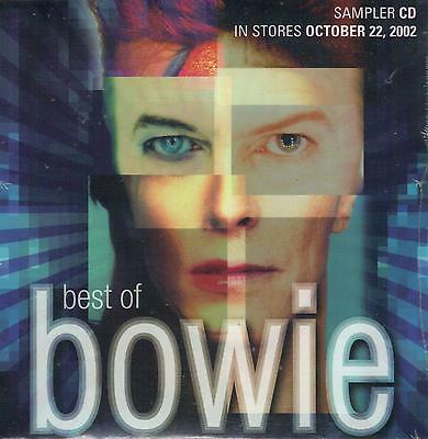 DAVID BOWIE  Best Of Bowie  promo CD sampler with PicCover