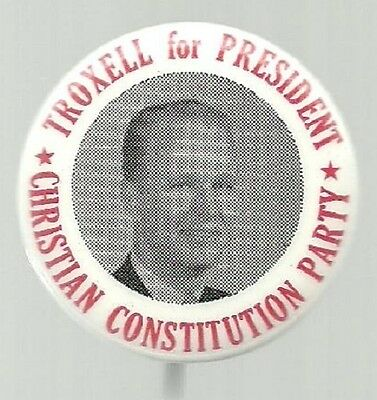 Richard Troxell For President Third Party 1968 Political Campaign Pin