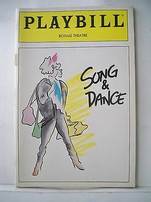 SONG AND DANCE Playbill BERNADETTE PETERS / ANDREW LLOYD WEBBER Opening NYC 1985