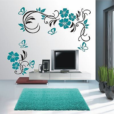 wandtattoo wandaufkleber wandsticker blumen ranke herz wohnzimmer deko wt 418 eur 29 90. Black Bedroom Furniture Sets. Home Design Ideas