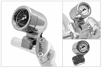 Mini-Bullet Tachometer with 1in. Bar Mount Baron White Face BA-7573-00