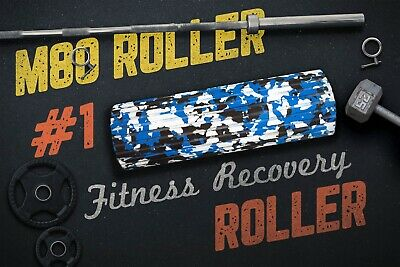 """#1Top Performance 15/"""" Foam Fitness Recovery Roller M80 Roller Snow Camo"""