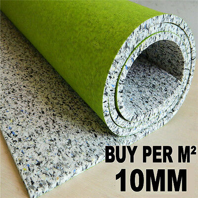 Luxury 10mm Thick Carpet Underlay Buy Per M² - Cheapest on E.bay BEST QUALITY !