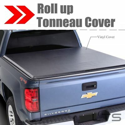 Lock Roll Up SOFT Tonneau Cover For 2007-2013 Chevy Silverado 5.8FT Short Bed